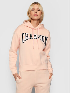 Champion Champion Majica dugih rukava Collegiate Logo 114766 Ružičasta Custom Fit