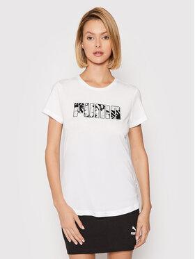 Puma Puma T-Shirt Summer 582051 Bílá Regular Fit