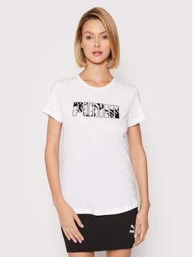Puma Puma T-Shirt Summer 582051 Λευκό Regular Fit