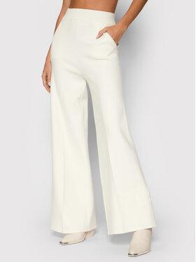 TWINSET TWINSET Spodnie materiałowe 212TP3247 Biały Relaxed Fit
