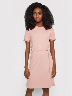 Calvin Klein Calvin Klein Každodenní šaty Logo Elastic K20K203021 Růžová Regular Fit