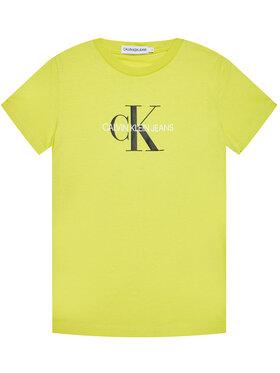 Calvin Klein Jeans Calvin Klein Jeans Tričko IU0IU00068 Žltá Regular Fit