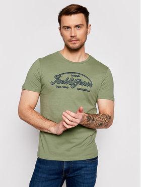 Jack&Jones Jack&Jones Marškinėliai Brians 12186404 Žalia Regular Fit