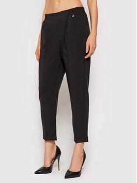 Rinascimento Rinascimento Текстилни панталони CFC0103916003 Черен Regular Fit