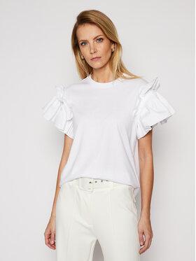 Victoria Victoria Beckham Victoria Victoria Beckham T-Shirt Single 2121JTS002406A Biały Regular Fit