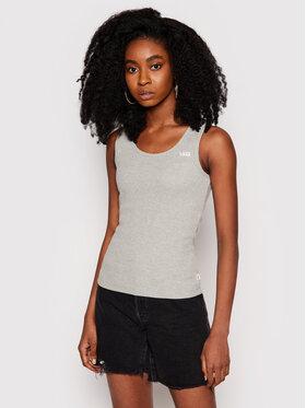 Vans Vans Marškinėliai Huddle VN0A5AUI Pilka Slim Fit