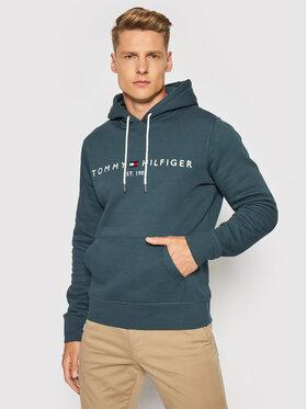 Tommy Hilfiger Tommy Hilfiger Sweatshirt Logo Hoody MW0MW11599 Vert Regular Fit