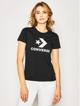 Converse Converse Marškinėliai Star Chevron 10018569 Juoda Regular Fit