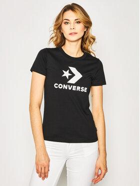 Converse Converse Tricou Star Chevron 10018569-A02 Negru Regular Fit