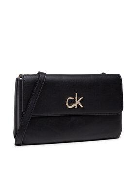 Calvin Klein Calvin Klein Kabelka Re-Lock Ew Dbl Comb Xbody W/Flap K60K608177 Čierna
