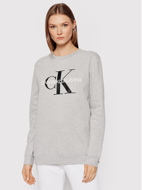 Calvin Klein Jeans Calvin Klein Jeans Majica dugih rukava Core Monogram Logo J20J207877 Siva Relaxed Fit