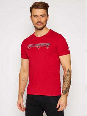 Guess Guess Marškinėliai M0BI53 I3Z00 Raudona Slim Fit