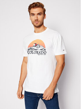 Tommy Jeans Tommy Jeans T-shirt Tjm Colorado Graphic Tee DM0DM09367 Bianco Regular Fit