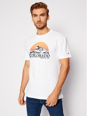 Tommy Jeans Tommy Jeans Тишърт Tjm Colorado Graphic Tee DM0DM09367 Бял Regular Fit