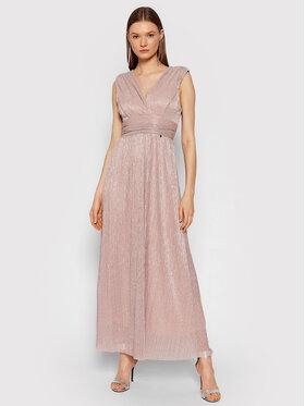 Rinascimento Rinascimento Večerné šaty CFC0104690003 Ružová Slim Fit