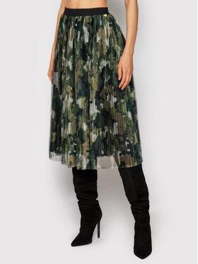 TWINSET TWINSET Plisovaná sukně 212LI2WFF Zelená Regular Fit
