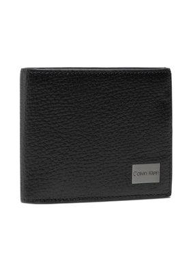 Calvin Klein Calvin Klein Nagyméretű férfi pénztárca Bifold 5cc W/Coin K50K506391 Fekete