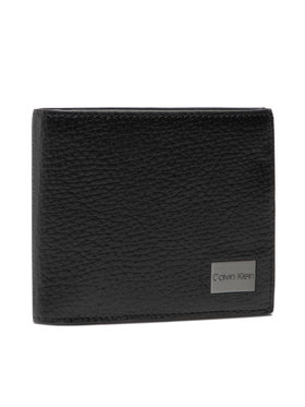 Calvin Klein Calvin Klein Veľká pánska peňaženka Bifold 5cc W/Coin K50K506391 Čierna