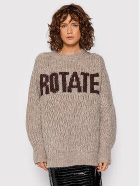 ROTATE ROTATE Пуловер Brandy Jumper RT693 Кафяв Regular Fit