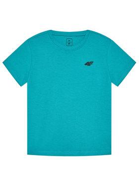 4F 4F Marškinėliai HJL21-JTSM001 Žalia Regular Fit
