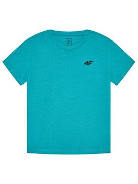 4F 4F T-Shirt HJL21-JTSM001 Zelená Regular Fit