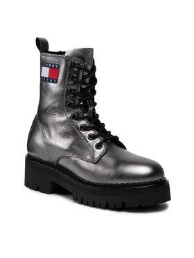 Tommy Jeans Tommy Jeans Trapery Metallic Lace Up Boot EN0EN01604 Szary
