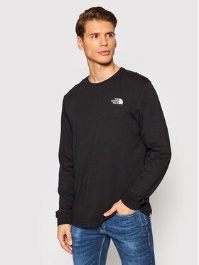 The North Face The North Face Longsleeve Simple Dome NF0A3L3BJ Czarny Regular Fit