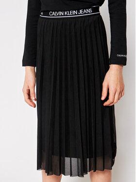 Calvin Klein Jeans Calvin Klein Jeans Sukňa Fine Mesh Midi IG0IG00721 Čierna Regular Fit
