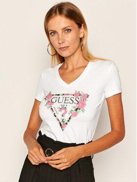 Guess Guess T-Shirt Britney Tee W0YI85 J1300 Biały Slim Fit