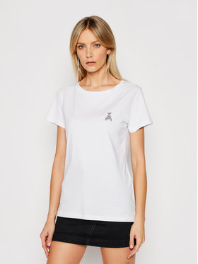 Patrizia Pepe Patrizia Pepe T-Shirt 8M1207/A8U4-W103 Bílá Regular Fit