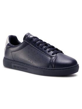 Emporio Armani Emporio Armani Sneakersy X4X316 XM500 N026 Granatowy