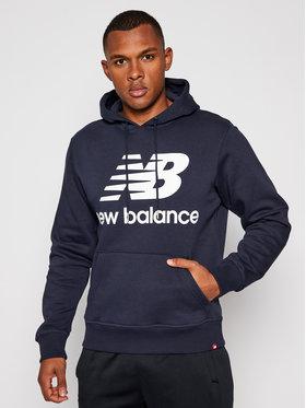 New Balance New Balance Bluza Essentl NBMT03578 Granatowy Relaxed Fit