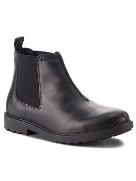 Geox Geox Kotníková obuv s elastickým prvkem U Rhadalf D U845HD 00045 C9999 Černá