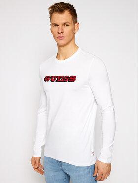 Guess Guess Тениска с дълъг ръкав M1RI0A J1300 Бял Slim Fit