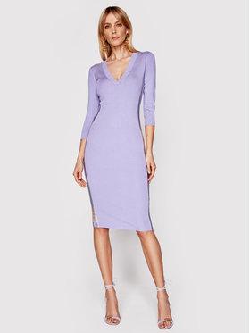 Elisabetta Franchi Elisabetta Franchi Trikotažinė suknelė AM-90S-11E2-V320 Violetinė Slim Fit