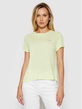 Tommy Jeans Tommy Jeans T-shirt Stripe DW0DW09790 Verde Relaxed Fit