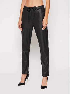 Pepe Jeans Pepe Jeans Szövet nadrág Cara PL203759 Fekete Relaxed Fit