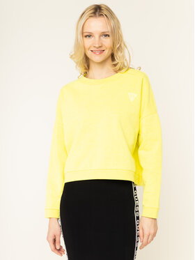 Guess Guess Džemperis Small Logo Fleece W01Q70 K9EN0 Geltona Regular Fit