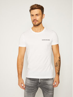 Calvin Klein Jeans Calvin Klein Jeans Póló J30J307852 Fehér Regular Fit