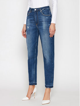 Guess Guess Jeansy Mom W1RA21 D46A4 Granatowy Tapered Fit