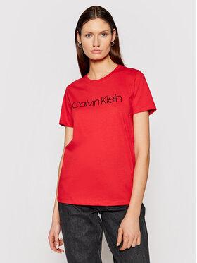 Calvin Klein Calvin Klein Tričko Core Logo K20K202018 Červená Regular Fit