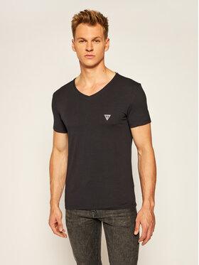 Guess Guess T-Shirt U97M01 JR003 Μαύρο Slim Fit