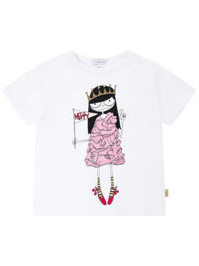 Little Marc Jacobs Little Marc Jacobs Тишърт W15484 S Бял Regular Fit