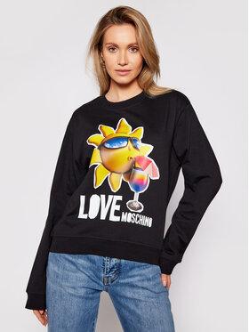 LOVE MOSCHINO LOVE MOSCHINO Majica dugih rukava W630637M 4267 Crna Regular Fit