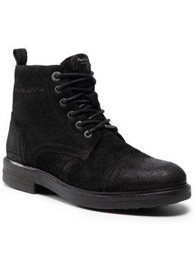 Pepe Jeans Pepe Jeans Zimske čizme Hubert Suede PMS50161 Crna