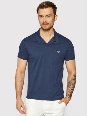Emporio Armani Emporio Armani Тениска с яка и копчета 211837 1P472 06935 Тъмносин Regular Fit