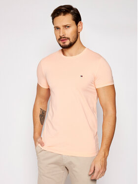Tommy Hilfiger Tommy Hilfiger T-Shirt Stretch MW0MW10800 Różowy Slim Fit