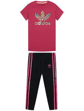 adidas adidas Komplektas: marškinėliai ir tamprės Graphic Print Tee Dress GN2214 Spalvota Slim Fit