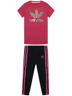 adidas adidas Set T-Shirt und Leggings Graphic Print Tee Dress GN2214 Bunt Slim Fit