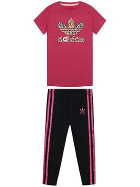 adidas adidas Set tricou și leggings Graphic Print Tee Dress GN2214 Colorat Slim Fit